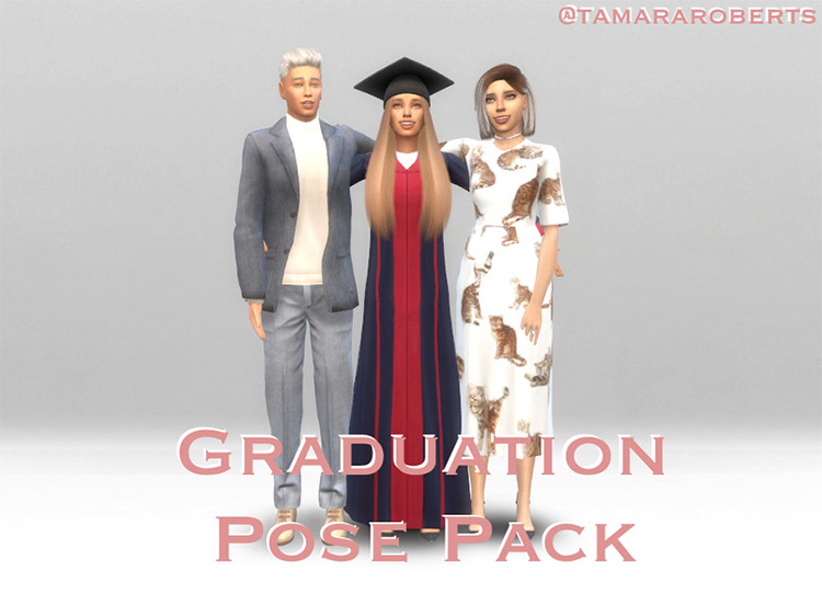 Graduation Pose Pack for The Sims 4