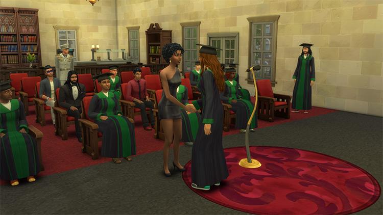 University Graduation Custom Social Event / Sims 4 CC