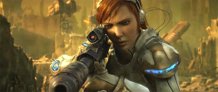 Sarah Kerrigan in StarCraft II: Wings of Liberty