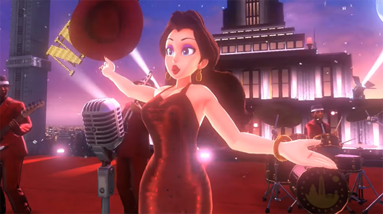 Pauline from Super Mario Odyssey game