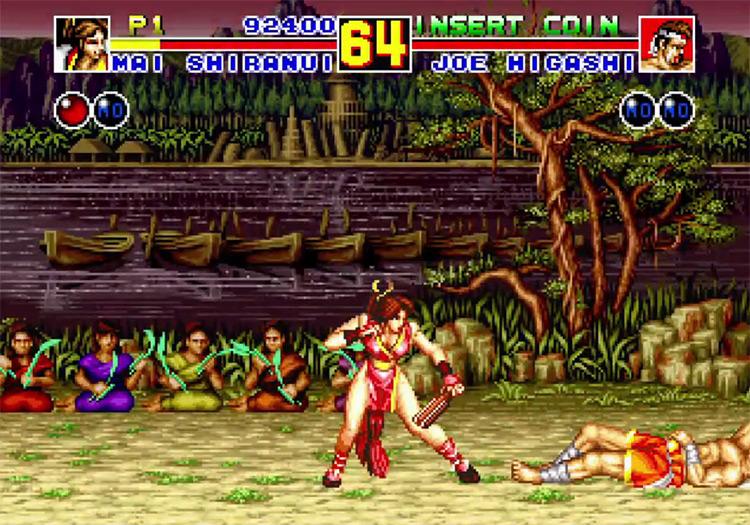Mai Shiranui in Fatal Fury 2 (1992)