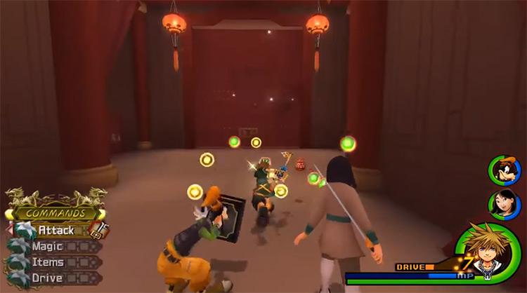 Mulan Battle Screenshot in KH 2.5 HD