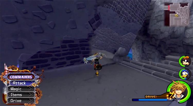 Sora battle pose in Hollow Bastion / KH 2.5 HD