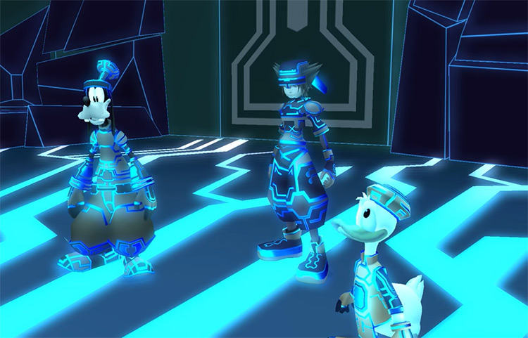 Sora, Donald, and Goofy in Space Paranoids / KH 2.5 HD
