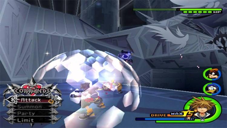 Battling KH2 HD screenshot battle