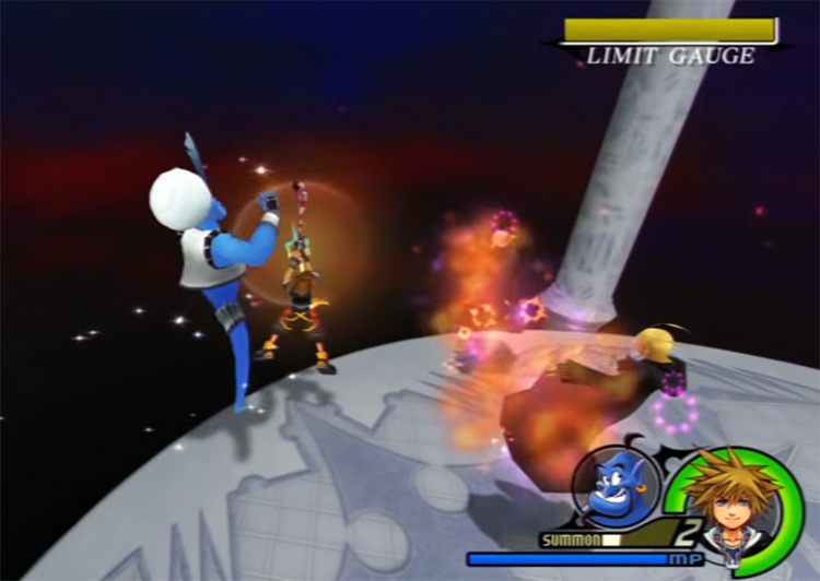 Genie summon in Kingdom Hearts 2.5 HD