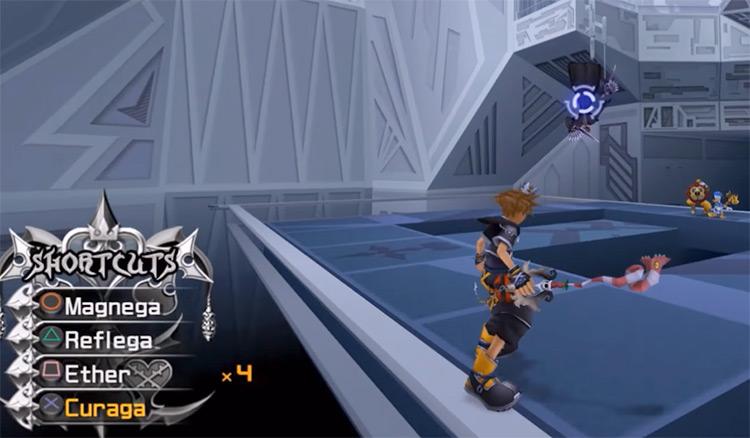 Menu shortcuts in Kingdom Hearts 2.5 HD