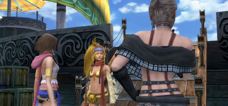 Yuna, Rikku & Paine at Luca Docks / FFX-2 HD