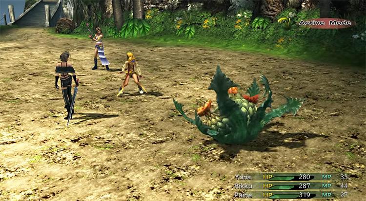 Fiend battle in Besaid / FFX-2 HD Screenshot