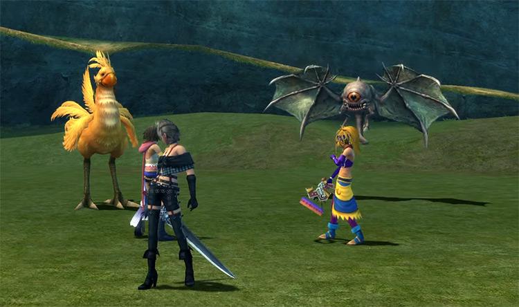 FFX-2 Yuna Rikku Paine battle in Calm Lands