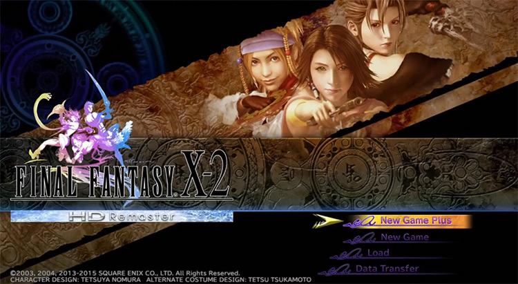 Final Fantasy X-2 HD New Game Plus Menu Screen