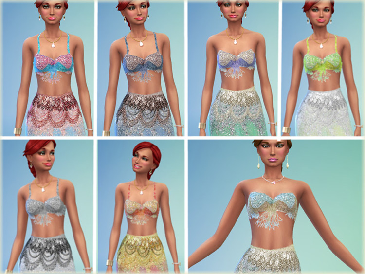 Exotic Dancer outfit CC for The Sims 4