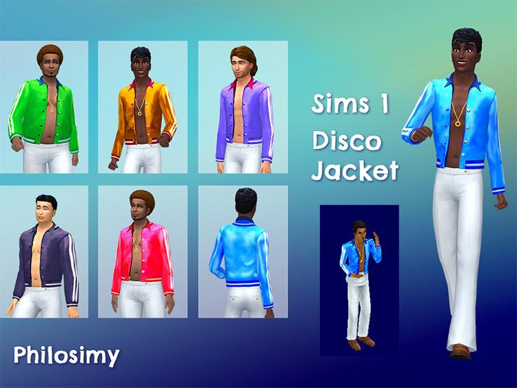 Sims 1 Disco Jacket converted into TS4 CC