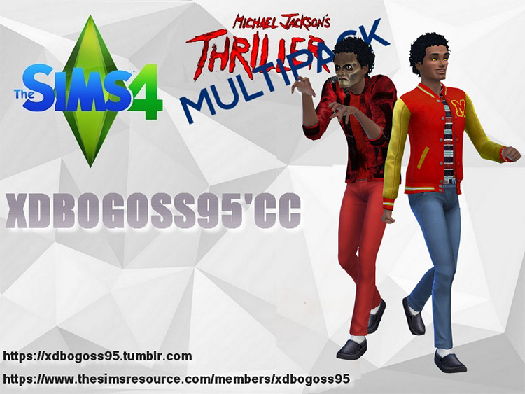 Thriller Michael Jackson CC pack for The Sims 4