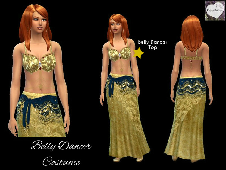 Belly dancing top attire / Sims 4 CC
