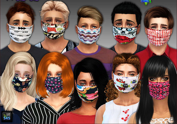 Surgical Mask Designs / Sims 4 CC