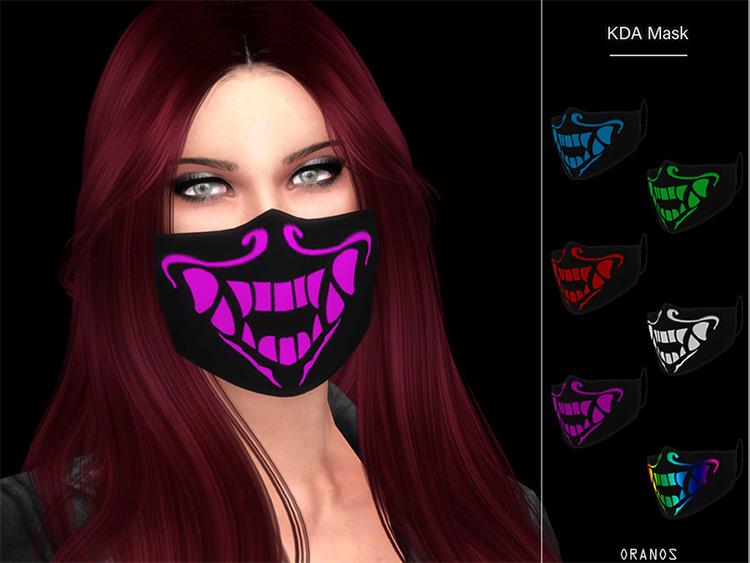 KDA Mask Design with dark colors / Sims 4 CC