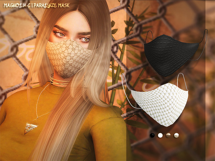 Paralyze Mask Vuitton-style CC for The Sims 4