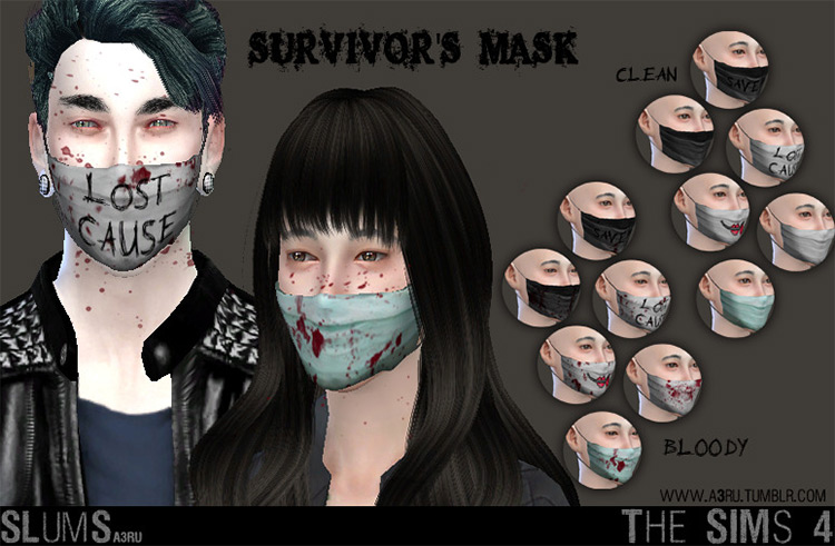Survivors Mask CC for The Sims 4