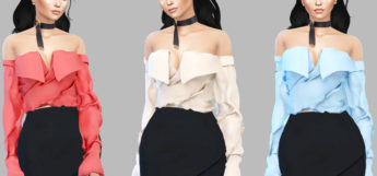 Karma Blouse Recolor for girls / Sims 4 CC