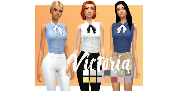 Victoria Blouse / TS4 CC