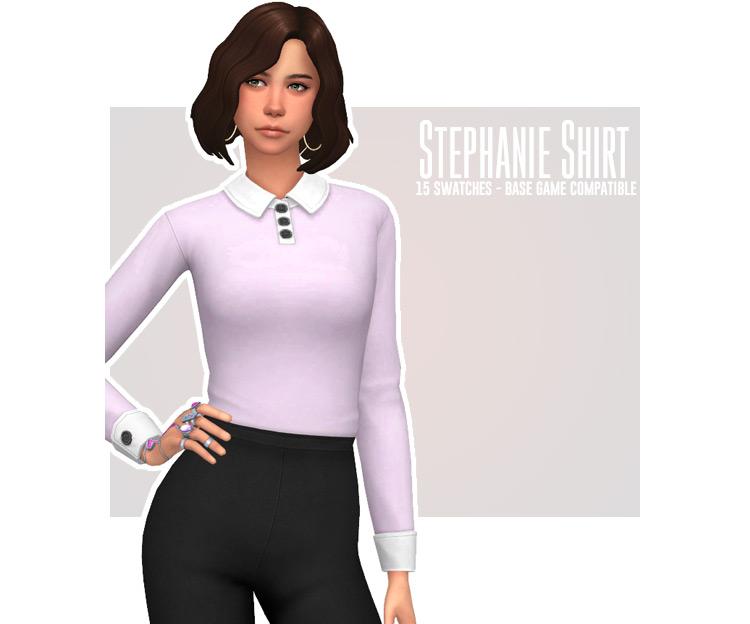 Stephanie Shirt for The Sims 4