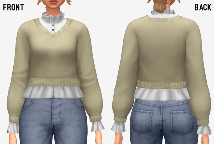 Inis Blouse for The Sims 4