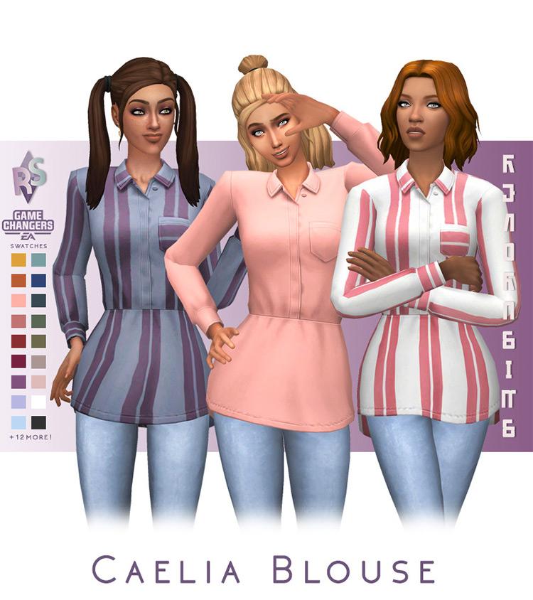 Caelia Blouse / TS4 CC
