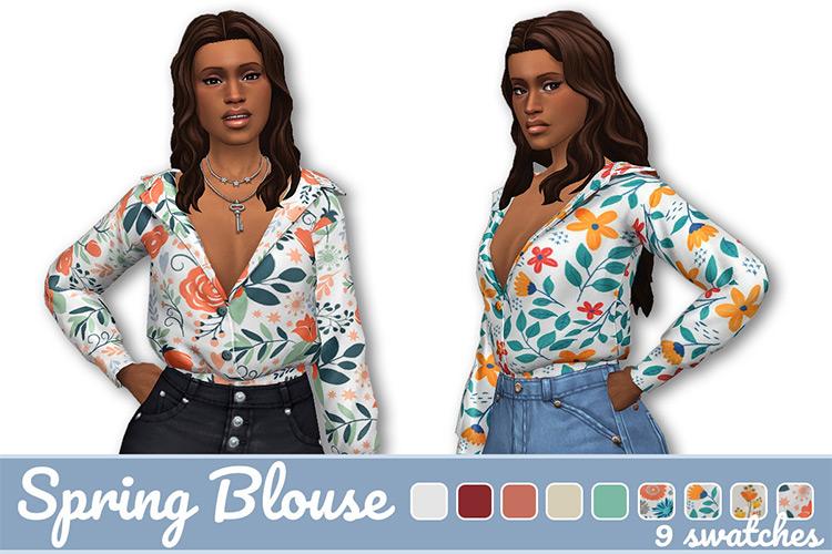 Spring Blouse / Sims 4 CC