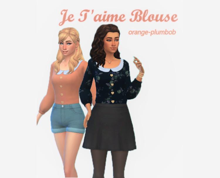 Je T'aime Blouse / TS4 CC