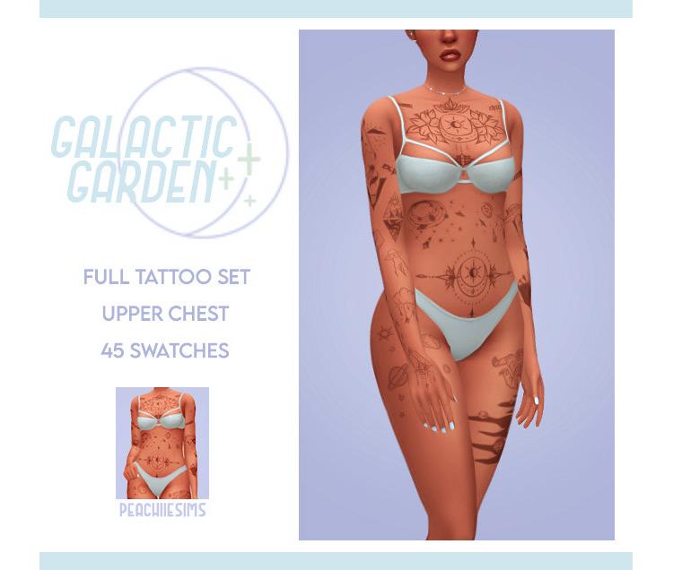 Galactic Garden Tattoos / Sims 4 CC