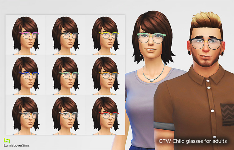 GTW Child Glasses For Adults / TS4 CC