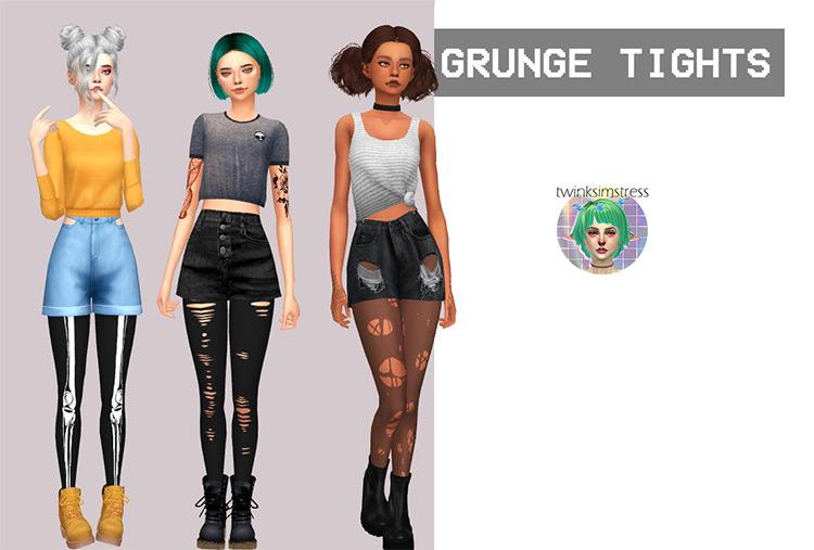 Grunge Tights / Sims 4 CC