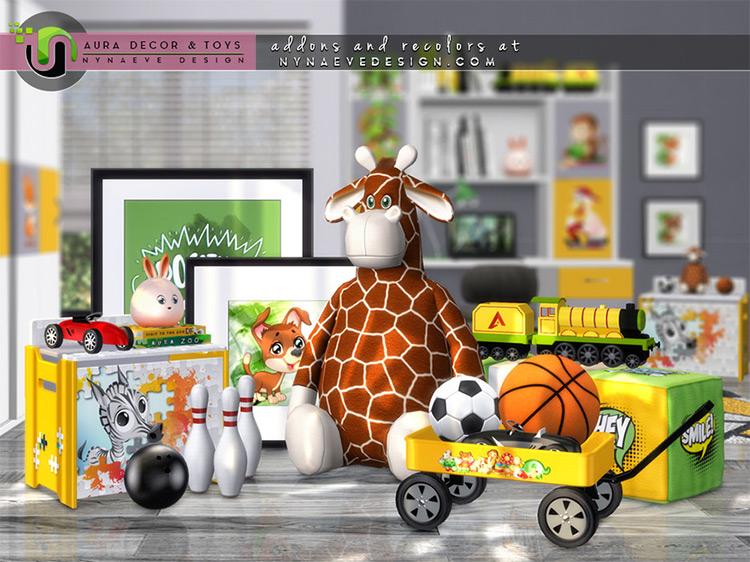 Aura Kid's Decor and Toys / Sims 4 CC
