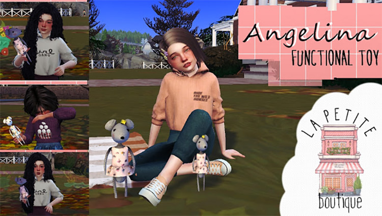 Angelina - Functional Toy Design / Sims 4 CC
