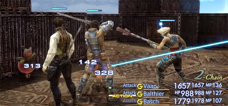 FF12 TZA party target any ally screenshot