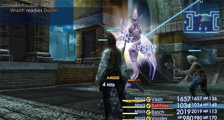 Wraith undead foe battle in FF12 The Zodiac Age