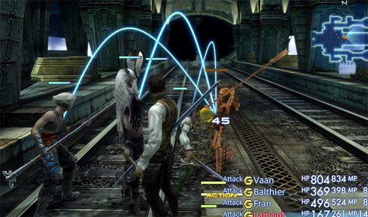 Lhusu Mines skeleton battles in FF12 The Zodiac Age