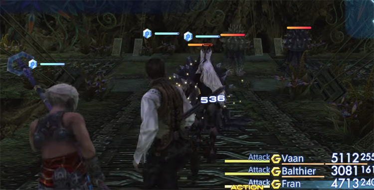 Battling Marlboros in FF12 TZA with lowest HP