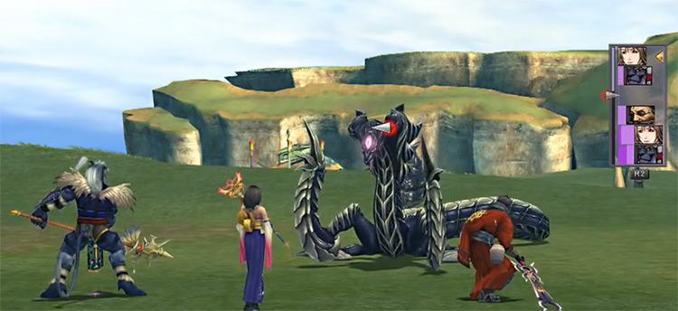 Jormungand Monster Arena battle in FFX HD