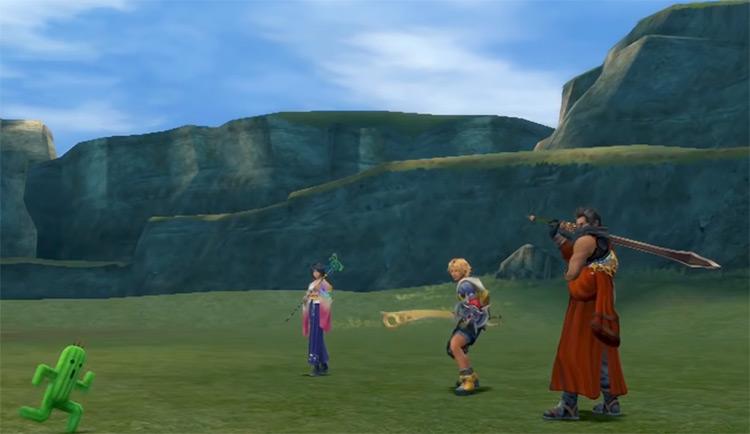 Cactuar King battle in Final Fantasy X HD