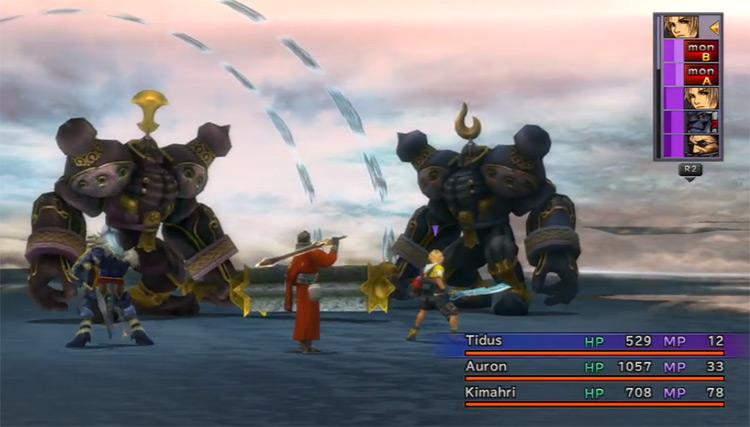 Battling Geminis in Final Fantasy X HD