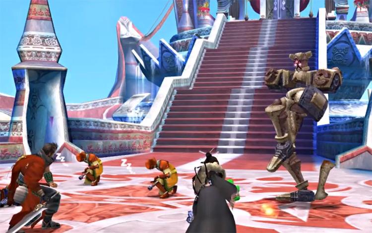 Machina Bevelle battle in FFX HD