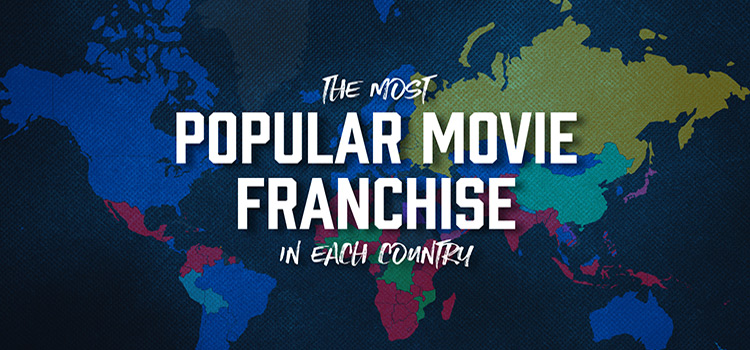 Header image - The most popular movie franchise in each country