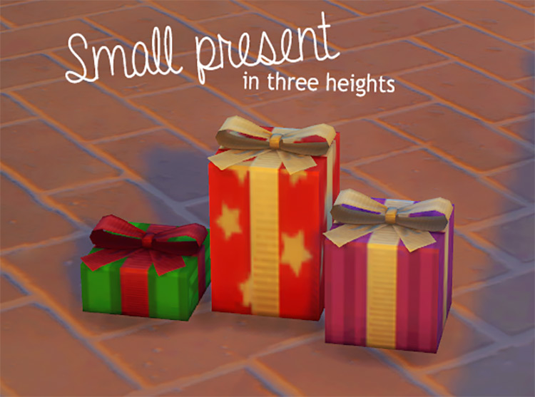 Small Present in Three Heights for The Sims 4