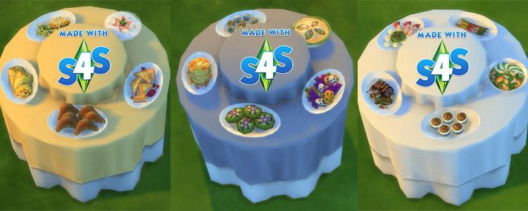 Buffet Table with Five Food Choices / TS4 CC