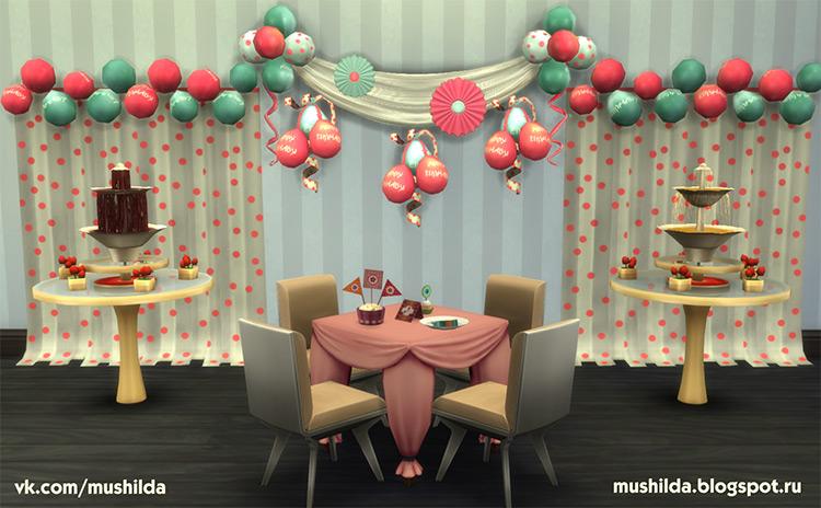 Party Decor Recolors / Sims 4 CC