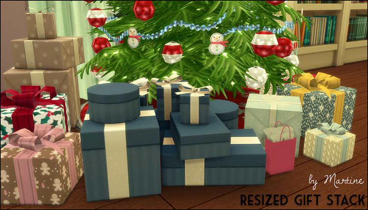 Resized Gift Stack / Sims 4 CC