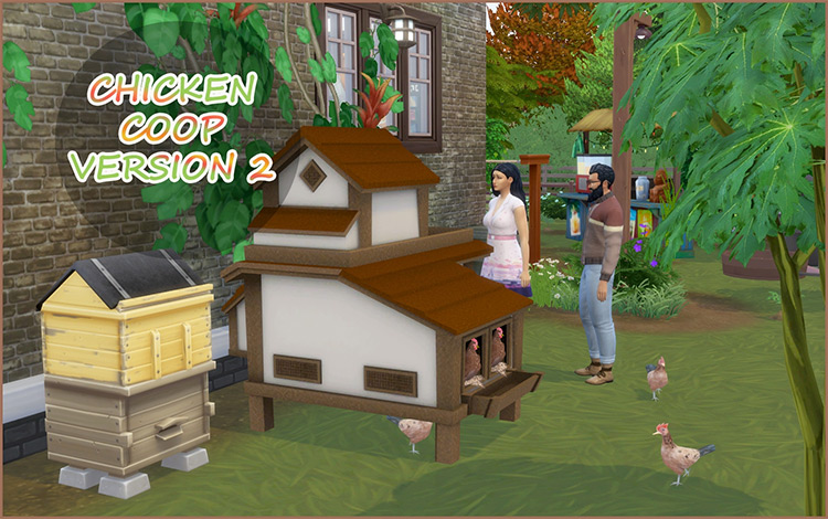 Functional Chicken Coop v2 / Sims 4 Mod Preview