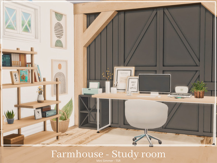 Farmhouse Study Room for The Sims 4